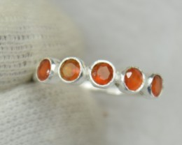 NATURAL UNTREATED CARNELIAN RING 925 STERLING SILVER JE529