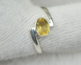 NATURAL UNTREATED CITRINE RING 925 STERLING SILVER JE534