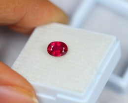 1.23ct Natural Ruby Oval Cut Lot V1937