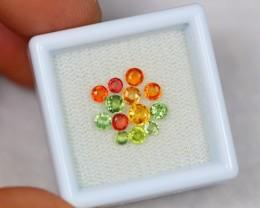 1.95Ct Natural Fancy Color Sapphire Round Cut Lot LZ1013