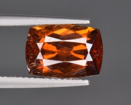 Natural Rare Bastnasite Faceted Gemstone 5.85 Cts from Zagi, Pakistan