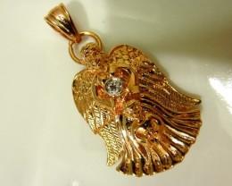 A  Gorgeous Vintage Pendant w   A Diamond & signed by Sanuk