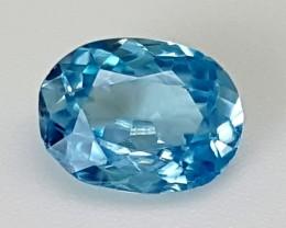 1.70Crt Blue Zircon Best Grade Gemstones JI09