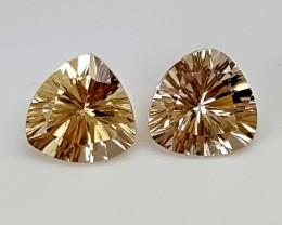 2.10Crt Fancy Citrine Pair  Best Grade Gemstones JI09