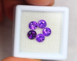 2.47ct Natural Amethyst Round Cut Lot GW1992