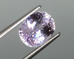 3.82 Carat VVS Kunzite Soft Pink - Gorgeous Clarity and Quality !