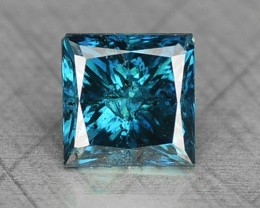 0.25 Cts Natural Blue Diamond Square Princess Africa