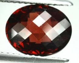 3.15 Cts Natural Pinkish Red Garnet Oval Cut African Gem