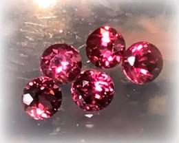 5 PRIME PARCEL OF RUBY PINK RHODOLITE GARNETS 4.50MM JEWELLERY GRADE