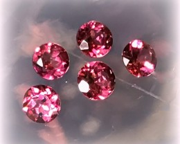 6 piece parcel of Rhodolite Garnet gems 4.5mm VVS