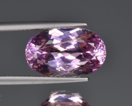 Amazing Kunzite 8.14 Cts  Faceted Gemstone with Hollow Tubes Inclusions
