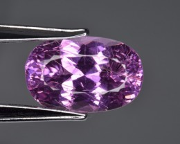 Amazing Kunzite 15.16 Cts  Faceted Gemstone with Hollow Tubes Inclusions