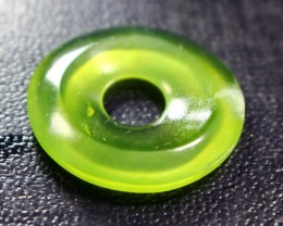 24.70 CT Natural - Unheated  Green Jade Carvings Dount Shape