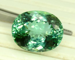 No Reserve - 39.15 carats Oval Cut  Lush Green Spodueme Gemstone From Afgha