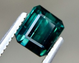 1.21 Crt Natural Indicolite Tourmaline Beautiful Faceted Gemstone (AG 32)