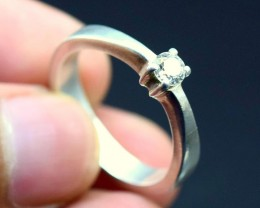23 ¢ Cent  Natural  Diamond in Silver Ladies Ring