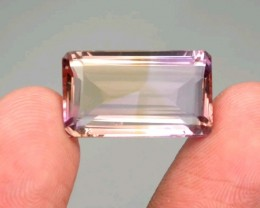 15.11 CT Unheated Bicolor Yellow & Purple Ametrine (Brazil)