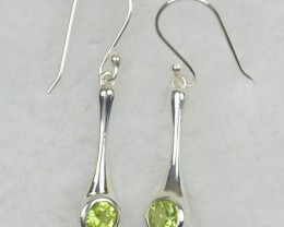 NATURAL UNTREATED  EARRINGS 925 STERLING SILVER JE565