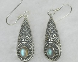 NATURAL UNTREATED LABRADORITE EARRINGS 925 STERLING SILVER JE567