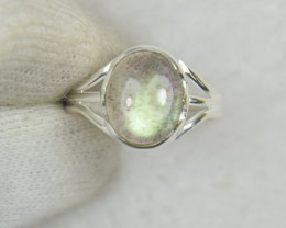 NATURAL UNTREATED LABRADORITE RING 925 STERLING SILVER JE570