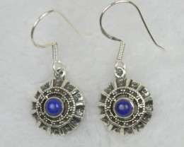 NATURAL UNTREATED LAPIS EARRINGS 925 STERLING SILVER JE573
