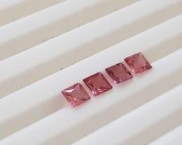 Pink tourmaline princess cut parcel - 1.25 carats #pt4