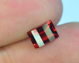 1.15 ct Laser Cut Natural Red Rhodolite Garnet