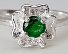 7.55Crt Emerald 925 Silver Ring  Best Grade Gemstones JI10