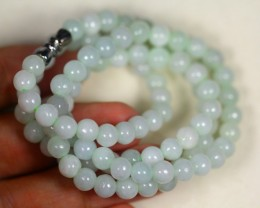 176.5Ct Burmese Type-A Jadeite Jade Necklace