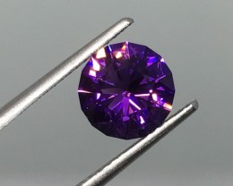 1.68 Carat VVS Amethyst Uruguay Purple Master Cut - Masterpiece !