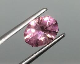 1.73 Carat VVS Pink Tourmaline Fancy Precision Cut - Certified Quality !