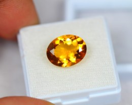 4.52ct Natural Yellow Citrine Oval Cut Lot GW1995
