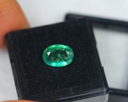 1.84ct Natural Zambia Emerald Oval Cut Lot GW2007