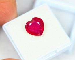 5.95ct Natural Ruby Heart Cut Lot GW2009