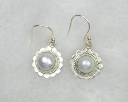 NATURAL UNTREATED PEARL EARRINGS 925 STERLING SILVER JE649