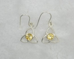 NATURAL UNTREATED CITRINE EARRINGS 925 STERLING SILVER JE665