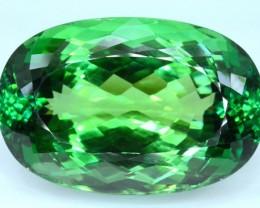 No Reserve - 108.95 carat Large Size Lush Green Spodumene Gemstone From Afg