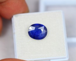 4.08ct Natural Blue Sapphire Oval Cut Lot V1967