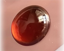 4.30CT RICH ORANGE HESSONITE GARNET CABOCHON NO RESERVE