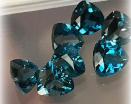 For M - 3 parcels of 7 PIECE LONDON BLUE TOPAZ GEM PARCEL FANTASTIC