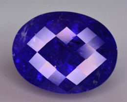 31.30 Ct Dazzling Color Natural Tanzanite ~ AAA Color