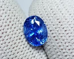 CERTIFIED 1.30 CTS NATURAL BEAUTIFUL CORNFLOWER BLUE SAPPHIRE SRI LANKA