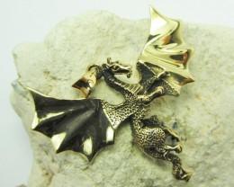 Mystical Legends of the Dragon Brass Pendant   QT 640