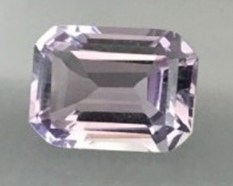 6.75ct Emerald Cut Lavender Purple Rose De France Amethyst - GM55