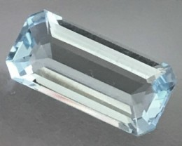 Elongated Emerald Cut 7.77ct Sky Blue Topaz - Brazil