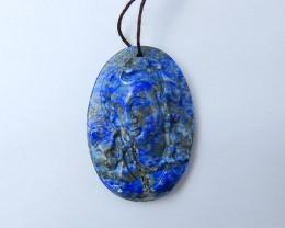 126ct Lapis Lazuli Carved Pendant (18081305)