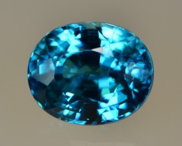 8.15 Cts Fabulous Lustrous Perfect Blue Zircon