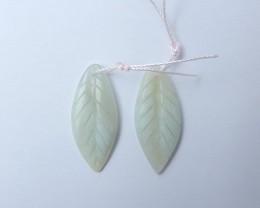 16ct Amazonite Leaf-Shaped Earrings (18081309)