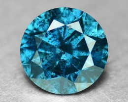 0.28 Cts Natural Titanium  Blue Diamond Round Africa