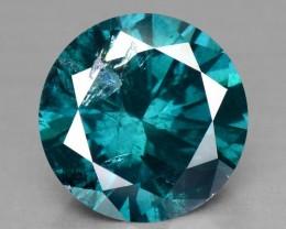 0.56 Cts Natural Greenish Blue Diamond Round Africa